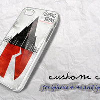 sleeping with sirens for hard plastic case/ iphone 4 by sampletonk