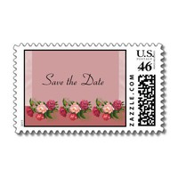Dusty Rose Save the Date Postage from Zazzle.com