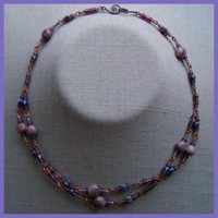 Purple Mocha Double Necklace by AthomicArtandDesign on Zibbet