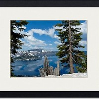 crater lake 4 Art Prints by David Hunter - Shop Canvas and Framed Wall Art Prints at Imagekind.com