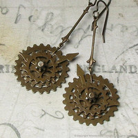 Steampunk Watch Gears Antique Brass by whimsydaisydesigns on Etsy