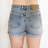 The London Jean High Waisted Shorts