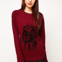 ASOS Sweatshirt with Elephant Flocking