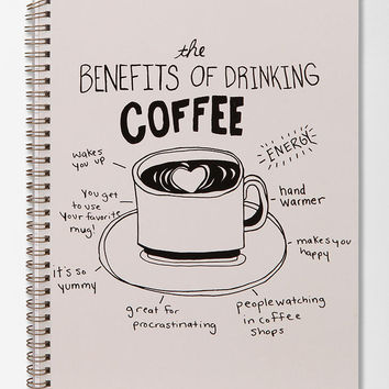Urban Outfitters - Spiral Notebook - Coffee