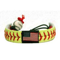Amazon.com: American Flag Classic Softball Bracelet: Sports &amp; Outdoors