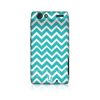 Amazon.com: Head Case Cyan Chevron Pattern Protective Back Case Cover for Motorola DROID RAZR XT910: Everything Else