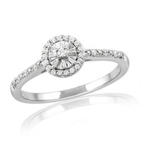 1/6 CT. T.W. Diamond Frame Promise Ring in Sterling Silver - View All Rings - Zales