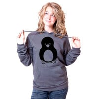 Penguin American Apparel Pullover Hoodie by rainbowswirlz on Etsy
