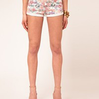 Glamorous | Glamorous Floral Denim Shorts at ASOS