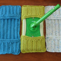 Set of 3 Eco Friendly Cotton Swiffer Covers by handknitted4you
