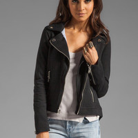 Chaser Fleece Moto Jacket in Black from REVOLVEclothing.com