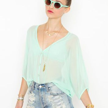 Meadow Chiffon Blouse in Clothes Tops Shirts + Blouses at Nasty Gal