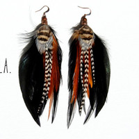 ELLA Long Feather Earrings