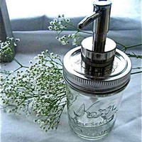 EcoFavorable Mason Jar Dispenser 8oz a by TheHoneyShack on Etsy