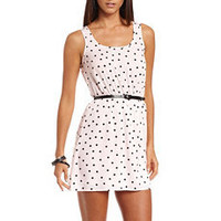 Belted Polka Dot Tank Dress: Charlotte Russe