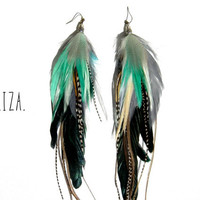 ELIZA Extra Long Feather Earrings