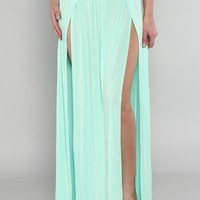 Maxi double slit skirt | Appealing Boutique
