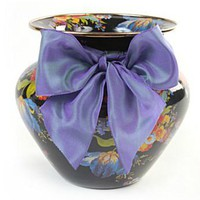 MacKenzie-Childs - Flower Market Enamel Large Vase - Black