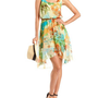 Belted Floral Chiffon Hi-Low Dress: Charlotte Russe