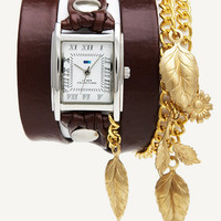 La Mer Collections :: Chain / Charm Wraps :: Brown - Gold Garden Leaf