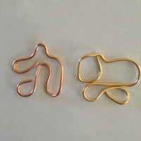 Pouncing Cat, Napping Dog, Copper Connector/Gold connector, Etsy jewelry, Lilyb444