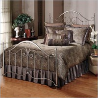Hillsdale Doheny Metal Panel Bed in Antique Pewter Finish - 1383BXR