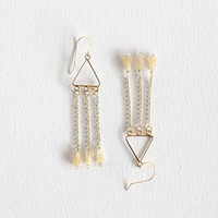QUARTZ TRIANGLE FRINGE / geometric triangular by SOFTGOLDSTUDIO