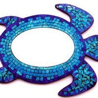 Amazon.com: Sea Turtle - Mosaic Mirror Wall Hanging - Spectacular!: Home & Kitchen