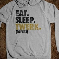Eat. Sleep. Twerk. (hoodie) - Galaxy Cats