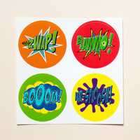 Batman sound effect stickers by purplecactusdesign on Etsy