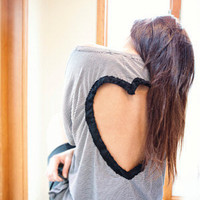 Heart Cut Out Shirt