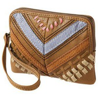 Mossimo Supply Co. Small Embroidered Wristlet - Tan