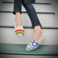 Hand Painted Flats Hope Rainbow rain by CircumhorizontalArc