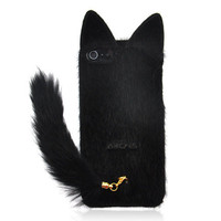 Fluffy Cat with Tail Case for iPhone 5 from Hallomall