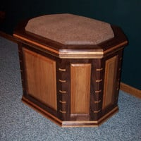 Walnut and Cherry Wood Hope Chest, Blanket Chest