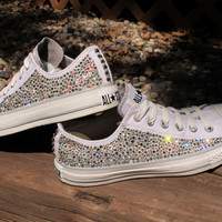 Swarovski Crystal Converse All Stars (Not including the shoes: Read Description)