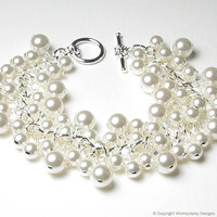 April in Paris Pearl & Crystal Charm by whimsydaisydesigns on Etsy