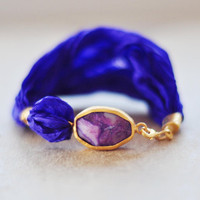 fashion jewelry unique bold large purple simple by YUNILIsmiles