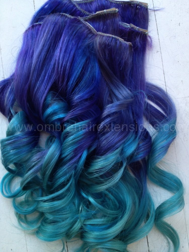 Purple Blue Hair Extensions Purple From