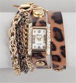Leopard Chain Fringe Wrap Watch