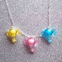 Star Candy - Sweet Pastel Charm Necklace from On Secret Wings