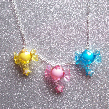 Star Candy - Sweet Pastel Charm Necklace
