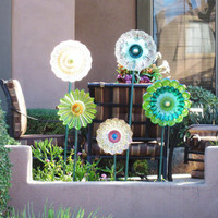 Yard And Garden Art Outdoor Decor Repurposed Upcycled by jarmfarm