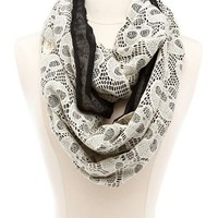 Skull Crochet Infinity Scarf: Charlotte Russe