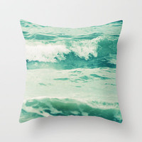 Sea of Dreams Throw Pillow by Lisa Argyropoulos | Society6