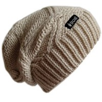 Amazon.com: Frost Hats M-113NF BEIGE Winter Hat for Women Slouchy Beanie Chunky Knitted Hat Winter Hat Frost Hats: Clothing