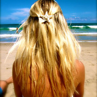 Custom Starfish Hair Accessories- White Knobby Starfish