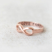 Love Forever Infinity Ring in pink gold by laonato on Etsy