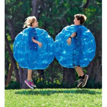 "Buddy Bounce Outdoor Play Ball, Inflatable - Blue - 36"" diam."