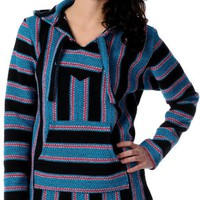Senor Lopez Retro Black  Turquoise Girls Poncho at Zumiez : PDP
